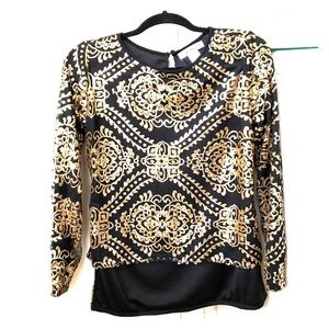 Gold beaded blouse